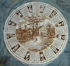 Alfred Meakin Staffordshire England Collector 1971 Calendar Plate