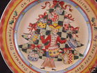 222 Fifth TWELVE DAYS OF CHRISTMAS Salad Plate Nine Drummers Drumming