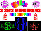 SALE 3 Sets Monogram Fonts Embroidery Machine Designs CD