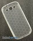 NEW CLEAR TPU CANDY SKIN CASE COVER FROST SNOW FLAKE FOR SAMSUNG GALAXY S 3 III