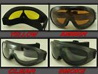 MOTORCYCLE GOGGLES FIT OVER PRESCRIPTION GLASSES CHOICE LENS COLOR 1 PAIR #G8010