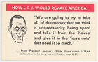 POLITICAL HOW LBJ WOULD REMAKE AMERICA ~ HUMAN EVENTS REPORT ADV