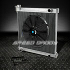 2 ROW FULL ALUMINUM RACING RADIATOR+14 FAN 97 06 JEEP WRANGLER YJ TJ 24 42L