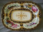 SUPERB HAND PAINTED DERBY CHELSEA BLOOR BLUE GROUND PLATTER c.LATE 1700'S