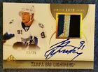 2010-11 10 11 UD SP AUTHENTIC SPA STEVEN STAMKOS LIMITED AUTO PATCH 25 SSP #32