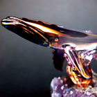 Whale Figurine Sculpture Blown Glass Amethyst Crystal