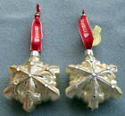 2 Waterford Lismore 60th Anniversary Blown Glass Snowflakes Ornaments NEW in BOX