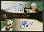 07-08 SP AUTHENTIC SPA SIGN OF THE TIMES MARIAN GABORIK JAMES SHEPPARD DUAL AUTO