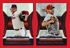 (2) 2012 *GOLD MOMENTS DIE-CUT REFRACTORS* ROY HALLADAY & CLIFF LEE , Phillies!
