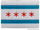 CHICAGO CITY FLAG embroidered iron on PATCH EMBLEM new ILLINOIS COOK COUNTY new