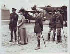 WWI ORIGINAL OFFICIAL PHOTO QUEEN MARY ON BRITISH WESTERN FRONT AERODROME