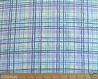 NEW 3.3 YARDS A ORIGINAL BLOOMCRAFT SCREEN PRINT P9385 PLAID DRAPERY FABRIC 54 W