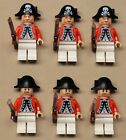 x6 NEW Lego Evil Pirate Minifigs Imperial Armada Soldiers Red KING GEORGE