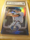 TOM PASTORNICKY BRAVES 2012 BOWMAN PLATINUM ROOKIE # 17 GRADED 10
