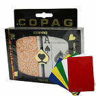 COPAG 1546 Plastic Playing Cards Poker Size Jumbo Index Orange Brown Free Gift