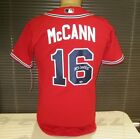 Brian McCann Autographed Signed Authentic Red Atlanta Braves Jersey COA Pic