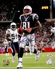 Randy Moss Autographed Signed New England Patriots 8x10 NFL Photo vs. Chargers