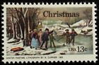 1976 13c Christmas Winter Pastime Currier Scott 1703 Mint F VF NH
