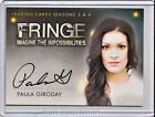 2013 Cryptozoic Fringe Seasons 3 and 4 Autographs Guide 34