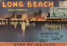 LONG BEACH Postcard Folder with 12 Images 1948