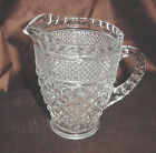 ANCHOR HOCKING WEXFORD  PINT SIZE CREAM OR MILK PITCHER  CLEAR GLASS EC