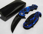 Wartech Spring Assisted Open BLUE Spiderman Collector Comics Hero Pocket Knife