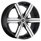 "22"" VCT Gotti Black Machine wheels&tires fit Frod Expedition Navigator 6 X 135"