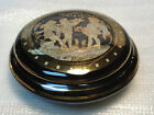 Collectable Vintage Greek Ceramic Bowl & Lid Hand Made In Greece IN 24K GOLD