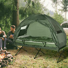 Outdoor 1 person Folding Tent Elevated Camping Cot w Air Mattress Sleeping Bag