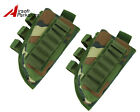 2 pcs Airsoft Rifle Stock Ammo Pouch with Cheek Leather Pad Woodland