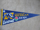 1990 UNIVERSITY OF MICHIGAN ROSE BOWL PENNANT WITH CASE WAREHOUSE FIND