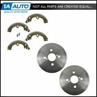 Rear Brake Drum  Shoe Pair Set NEW for Toyota Corolla Chevy Prizm