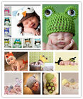 2 Baby Crochet Aminal Hat Set Baby 0-6 Months Costume Beanie Photography Prop