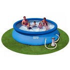 Intex 12 x 25 Foot Easy Set Inflatable Swimming Pool with Filter Pump Blue