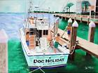 251 - Original Painting by Algazi - Doc Holiday Charter Fishing Boat - 18X24