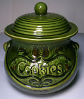 RETRO PENNSYLVANIA DUTCH STYLE PAINTED CERMAIC COOKIE JAR