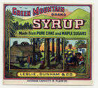 AUTHENTIC OLD 2 GREEN MOUNTAIN BRAND SYRUP LABELS, AFRICAN AMERICANS * FREE SHIP