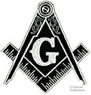 BLACK MASONIC LOGO EMBROIDERED PATCH iron on FREEMASON SQUARE COMPASS MASON