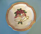 Fitz & Floyd Holiday Bells Canape Plate Mint In Box