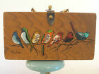 Vtg 1960s For The Birds Enid Collins Wood Box Bag Purse Hand Decorated Texas USA