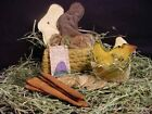 Primitive Easter Rabbit Bunny Eggs Chick Carrot Basket Spring Paper PATTERN