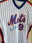 GREGG JEFFERIES AUTOGRAPHED NEW YORK METS 1990 AUTHENTIC RAWLINGS GAME JERSEY #9