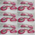 2 PAIR YOUTH PINK SWIM GOGGLES ADJUSTABLE ELASTIC BAND SWIMMING GEAR POOL LAKE