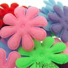 30 Mix Felt Flower Daisy 1  Applique Padded hair bow girl scrapbook card craft
