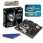 INTEL I5 4690 QUAD CORE CPU Z97M PLUS MOTHERBOARD 16GB DDR3 MEMORY RAM COMBO KIT