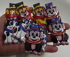 VINTAGE 9 party Clickers LION DOG MONKEY LITHO  TIN TOY 1960s  JAPAN