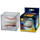 (6) Ultra Pro Baseball Cubes w Stand - UV Protected Display Case Ball Holder