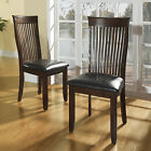 TRIBECCA HOME Winsford Burnished Cherry High Back Transitional Dining Chair (Set