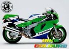 KAWASAKI 3 COLOUR TOUCH UP KIT ZXR400 ZXR750 1989 - 1990 GREEN WHITE