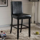 Luxury Collection Black Faux Leather Barstool